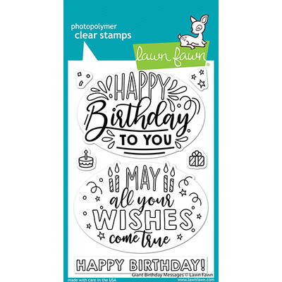 Clear Stamp, Giant Birthday Messages