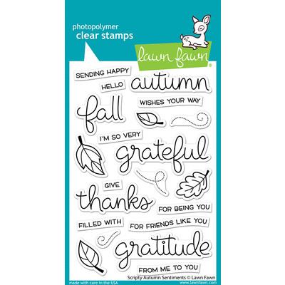 Clear Stamp, Scripty Autumn Sentiments