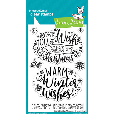 Clear Stamp, Giant Holiday Messages