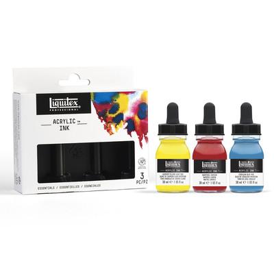 Acrylic Ink Set, 3 x 30ml - Essentials