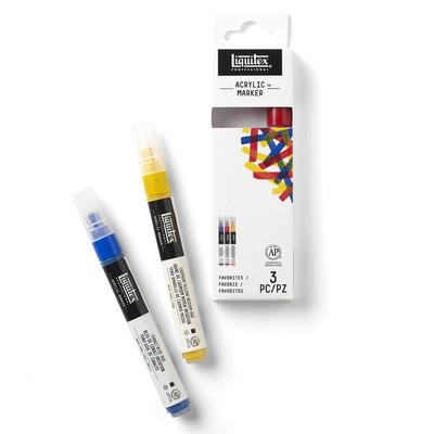 Acrylic Marker Set, Fine - Favorites (3 Pack)