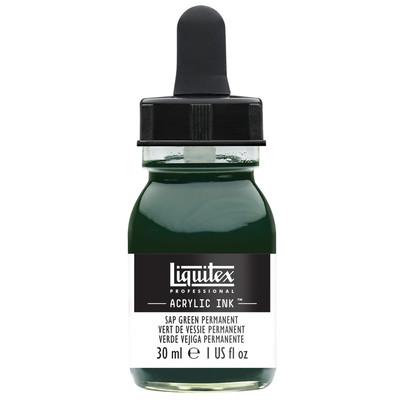 Acrylic Ink 30ml Jar, Sap Green Permanent