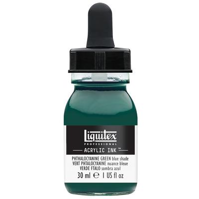 Acrylic Ink 30ml Jar, Phthalocyanine Green Blue Shade