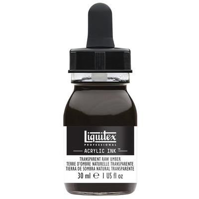 Acrylic Ink 30ml Jar, Transparent Raw Umber