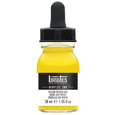Acrylic Ink 30ml Jar, Yellow Medium Azo