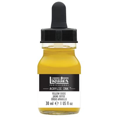Acrylic Ink 30ml Jar, Yellow Oxide
