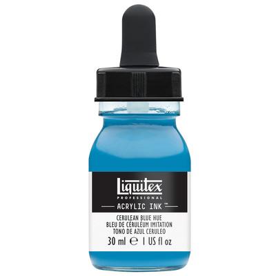Acrylic Ink 30ml Jar, Cerulean Blue Hue
