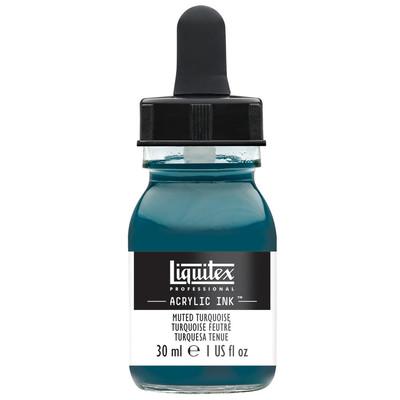 Acrylic Ink 30ml Jar, Muted Turquoise