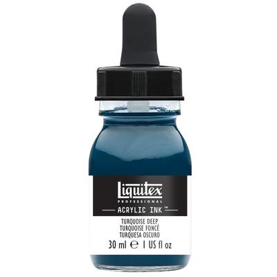 Acrylic Ink 30ml Jar, Turquoise Deep