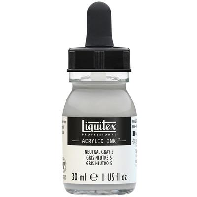 Acrylic Ink 30ml Jar, Neutral Grey 5