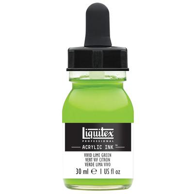 Acrylic Ink 30ml Jar, Vivid Lime Green