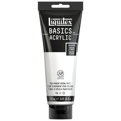 Basics Acrylic 250ml Tube, Transparent Mixing White