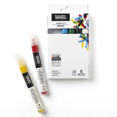Acrylic Marker Set, Fine - Classics (6 Pack)