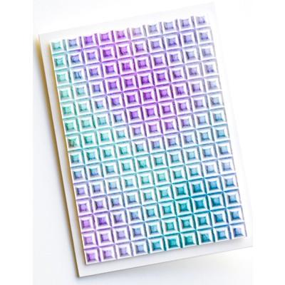 3D Embossing Folder, Geometric Crystals