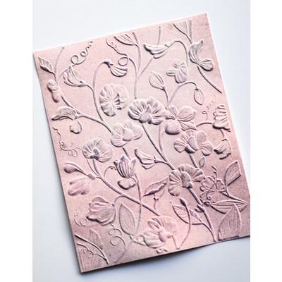 3D Embossing Folder, Blooming Sweet Pea