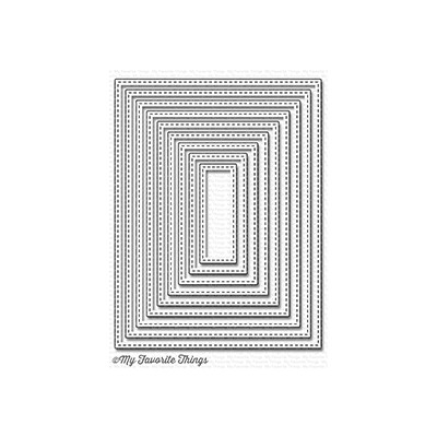 Die, A2 Stitched Rectangle Stax Set 1