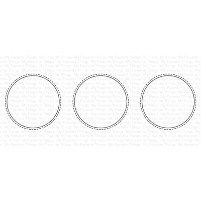 Die, Slimline Stitched Circle Trio