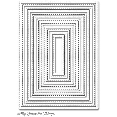 Die, Inside & Out Stitched Rectangle Stax
