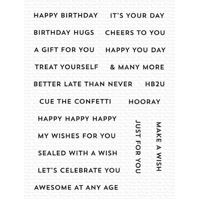 Clear Stamp, Itty Bitty Birthday