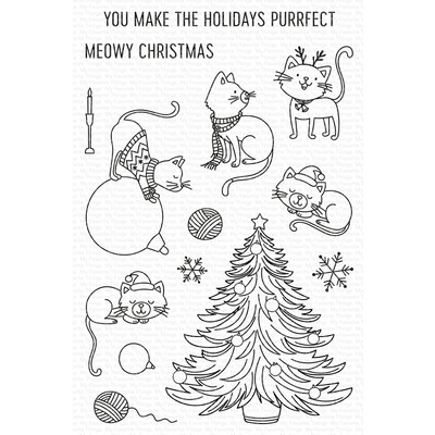 Clear Stamp, Meowy Christmas