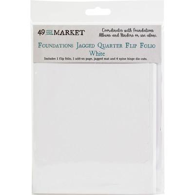 Foundations Jagged Quarter Flip Folio, White