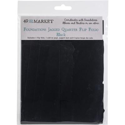 Foundations Jagged Quarter Flip Folio, Black