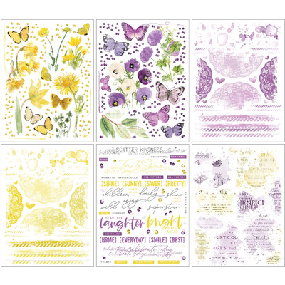 Rub-On Transfers, Vintage Artistry Butter - Lilac