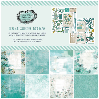 12X12 Collection Pack, Vintage Artistry Teal