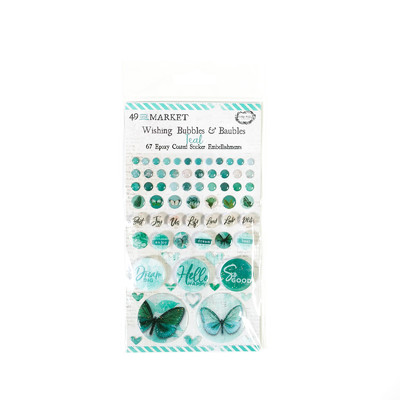 Wishing Bubbles & Baubles, Vintage Artistry Teal