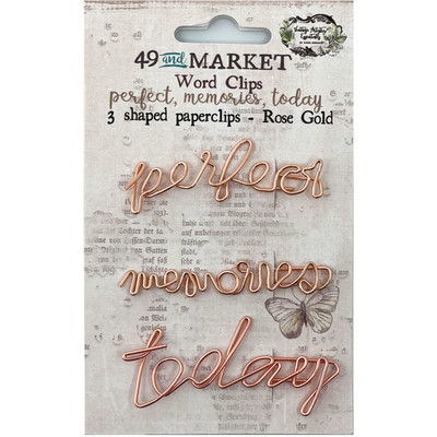 Shaped Clips, VAE - Perfect/Memories/Today - Rose Gold