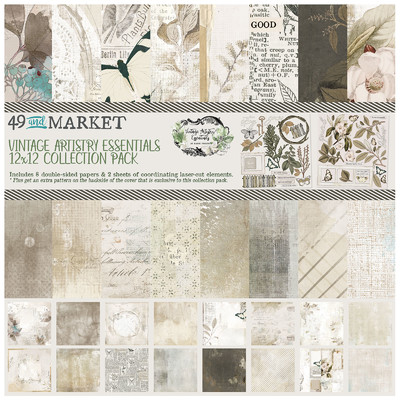 12X12 Collection Pack, Vintage Artistry Essentials