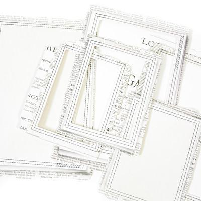 Stitched Frames, Vintage Artistry Essentials - Rectangle
