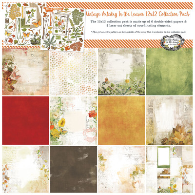 12X12 Collection Pack, Vintage Artistry In the Leaves