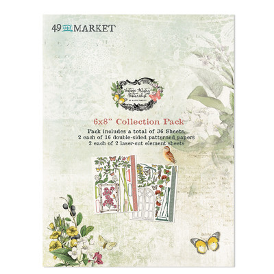 6X8 Collection Pack, Vintage Artistry Naturalist