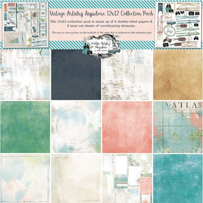 12X12 Collection Pack, Vintage Artistry Anywhere