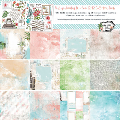 12X12 Collection Pack, Vintage Artistry Beached
