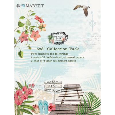 6X8 Collection Pack, Vintage Artistry Beached