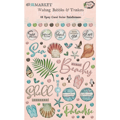 Wishing Bubbles & Trinkets, Vintage Artistry Beached