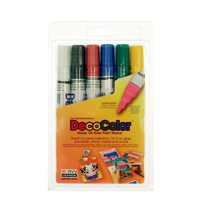 DecoColor Paint Marker Set, Broad - Primary (6pc)