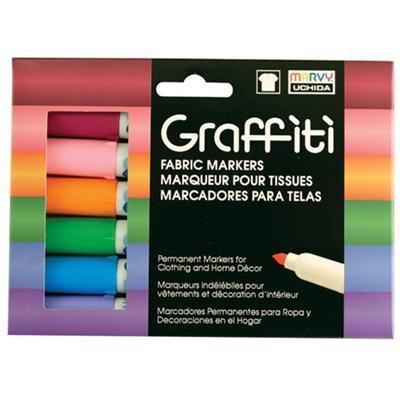 Graffiti Fabric Marker Set, Floral