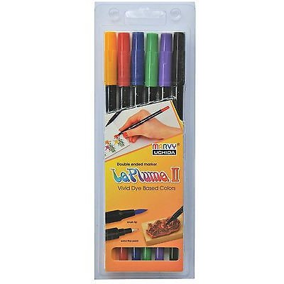 Le Plume II Double-Sided Marker Set, Classic (6 Piece)
