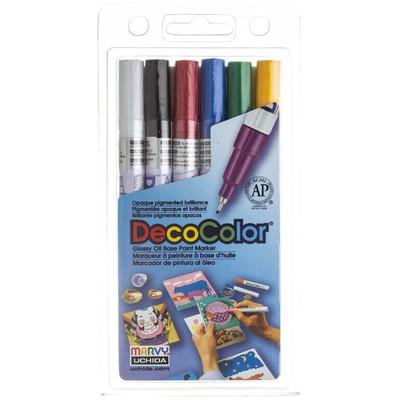 DecoColor Paint Marker Set, Extra Fine (6pc)