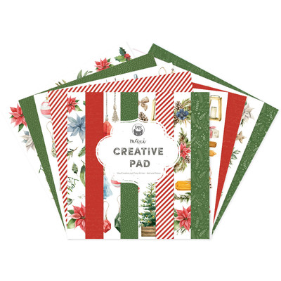 12X12 Maxi Creative Pad, Cosy Winter - Red and Green