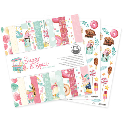 12X12 Paper Pad, Sugar and Spice
