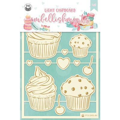 Chipboard Embellishments, Sugar and Spice 01