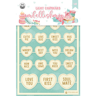 Chipboard Embellishments, Sugar and Spice 05