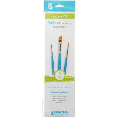 Select Artiste Short-Handle Brush Value Set, #02 (3 Piece)