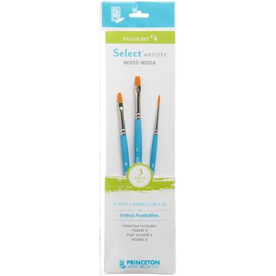 Select Artiste Short-Handle Brush Value Set, #04 (3 Piece)