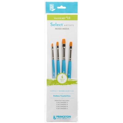 Select Artiste Short-Handle Brush Value Set, #11 (4 Piece)