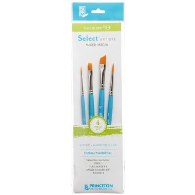 Select Artiste Short-Handle Brush Value Set, #13 (4 Piece)